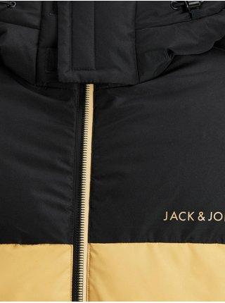 Čierno-žltá prešívaná bunda Jack & Jones Zack