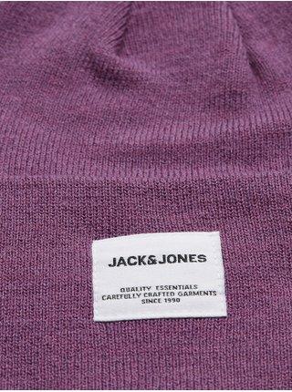 Fialová čiapka Jack & Jones Long