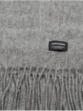 Šedá vlněná šála Jack & Jones Toronto