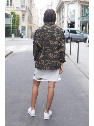 Khaki dámská džínová bunda June Sixth