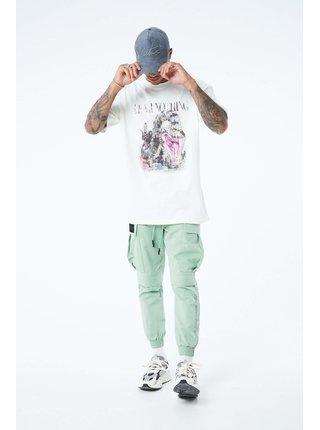 Bílé pánské tričko T-SHIRT TOUR WORLD NOTHING FEAR
