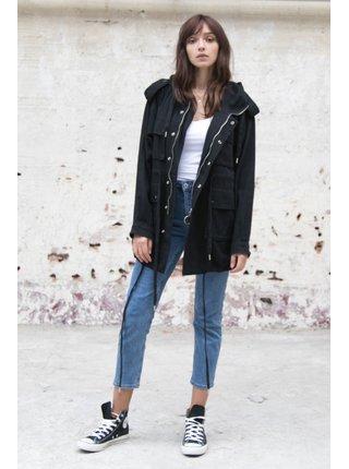 Černá dámská bunda s kapucí June Sixth