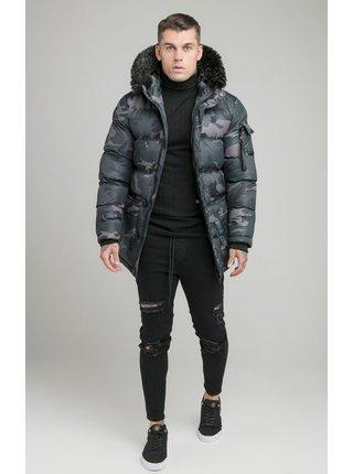 Šedá pánská bunda s kapucí PARKA PUFF