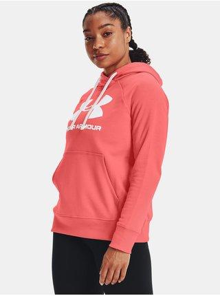 Mikina Under Armour Rival Fleece Logo Hoodie- oranžová