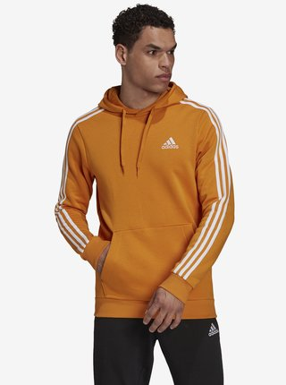 Oranžová pánská mikina s kapucí adidas Performance M 3S FL HD