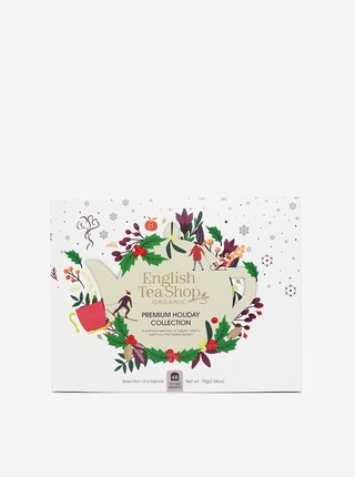 Bílá vánoční čajová kolekce English Tea Shop