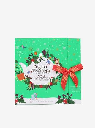 Zelený adventní čajový kalendář BIO English Tea Shop