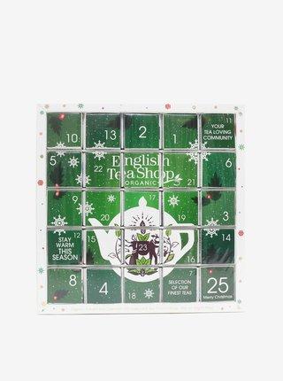 Zelený adventní čajový kalendář English Tea Shop