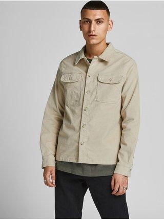 Béžová menčestrová košeľová bunda Jack & Jones Ben