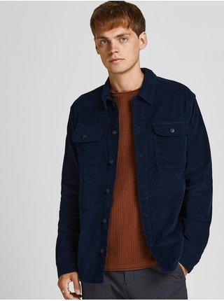 Tmavomodrá menčestrová košeľová bunda Jack & Jones Ben
