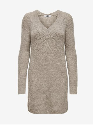 Béžové svetrové šaty Jacqueline de Yong Wendy