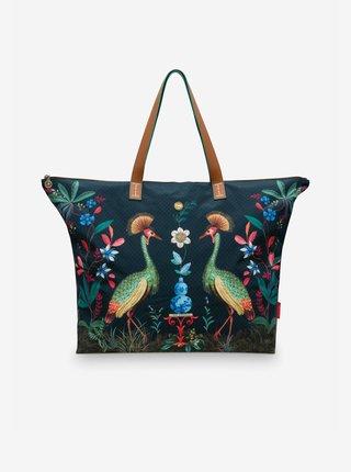 Tmavě modrá dámská kabelka PiP studio Flirting Birds Dark Blue