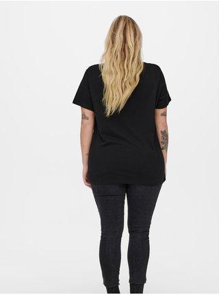 Černé volné tričko ONLY CARMAKOMA Pink Floyd