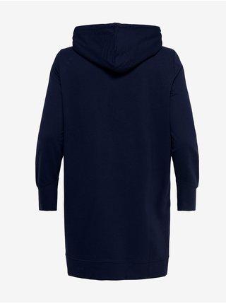 Tmavě modré mikinové šaty s kapucí ONLY CARMAKOMA Kally