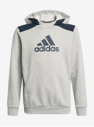 Modro-šedá klučičí mikina s kapucí adidas Performance B Bos HD