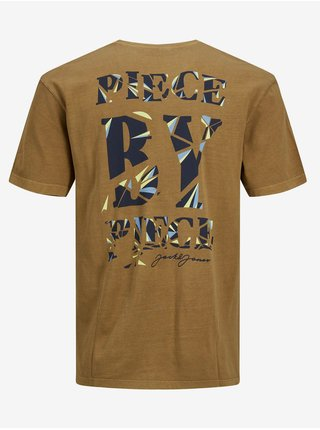 Hnědé tričko s potiskem Jack & Jones Costa
