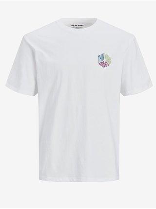 Biele tričko s potlačou Jack & Jones Costa