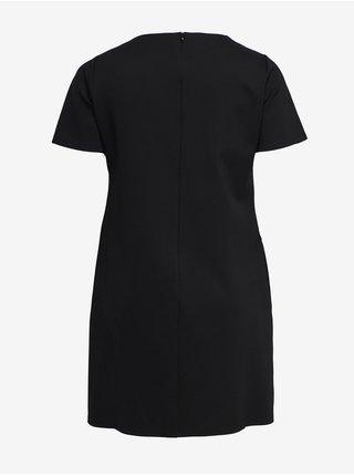 Černé šaty s koženkou ONLY CARMAKOMA Viola