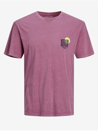 Fialové tričko s potiskem Jack & Jones Costa