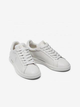 Biele pánske kožené tenisky POLO Ralph Lauren Irvine