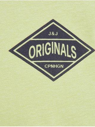Svetlozelené tričko s dlhým rukávom Jack & Jones Archie