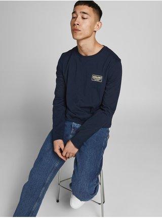 Tmavě modré tričko s dlouhým rukávem Jack & Jones Archie