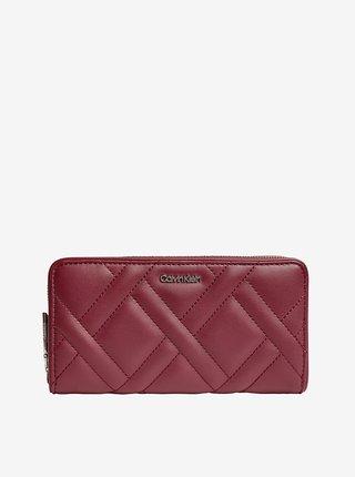 Vínová dámská peněženka Calvin Klein