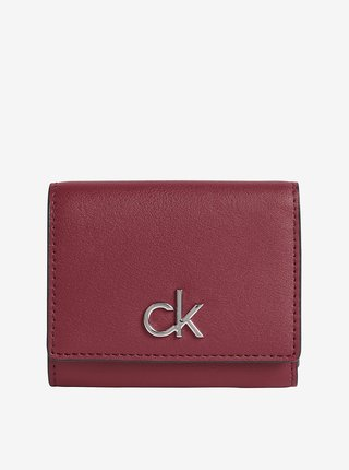 Vínová dámska peňaženka Calvin Klein