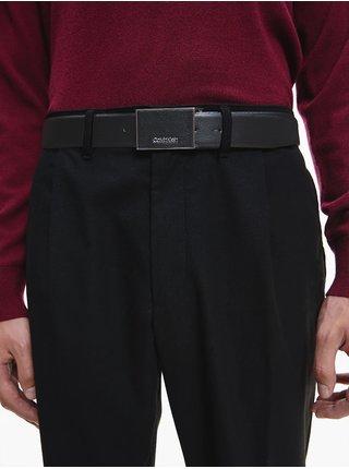 Černý pánský kožený pásek Calvin Klein
