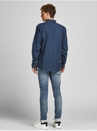 Modré skinny džíny Jack & Jones Glenn