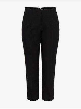 Černé zkrácené straight fit kalhoty ONLY Yasmine