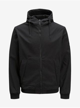 Černá lehká bunda s kapucí Jack & Jones Classic