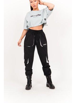 Černé dámské kalhoty PANTS CARGO BLACK JUNE SIXTH