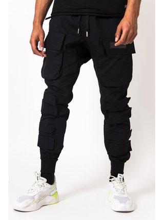 Černé pánské kalhoty black pants cargo tactical large June Sixth