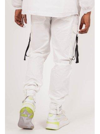 Bílé pánské kalhoty Pants Cargo Strap June Sixth