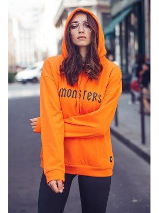 Oranžová dámská mikina s kapucí Tour Monsters June Sixth