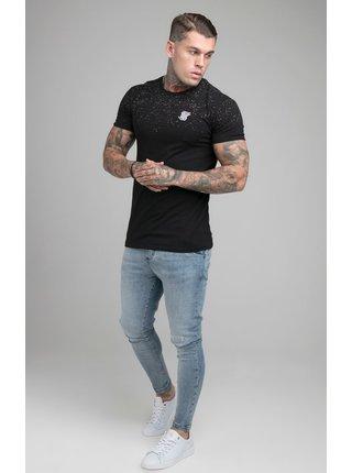 Černé pánské tričko TEE GYM SPECKLE