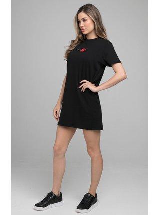 Černé dámské šaty DRESS T-SHIRT INTENSITY