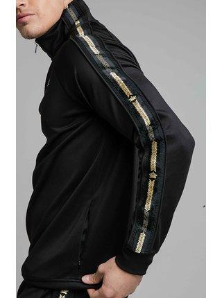 Černá pánská mikina OVERHEAD ZIP QUARTER CROWN