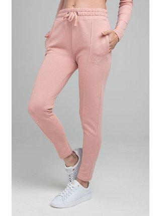 Růžové dámské tepláky JOGGERS WAIST HIGH