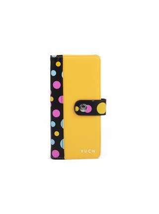 Černo-žlutá dámská malá vzorovaná peněženka VUCH Sunny Sammy