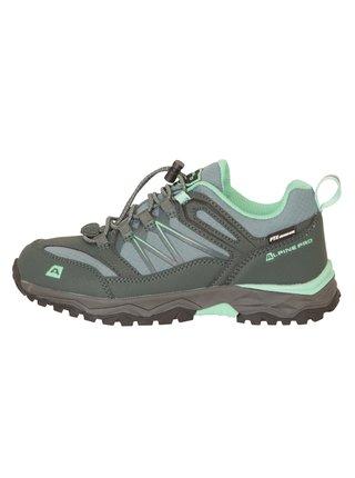 Dětská outdoorová obuv s membránou ALPINE PRO CERMO zelená