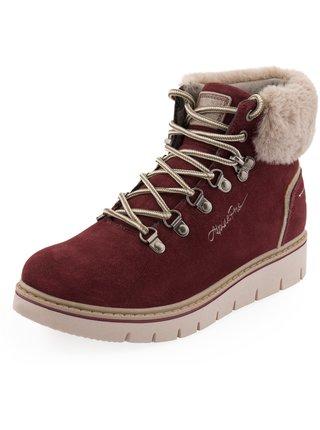 Dámské obuv zimní ALPINE PRO MARLA červená