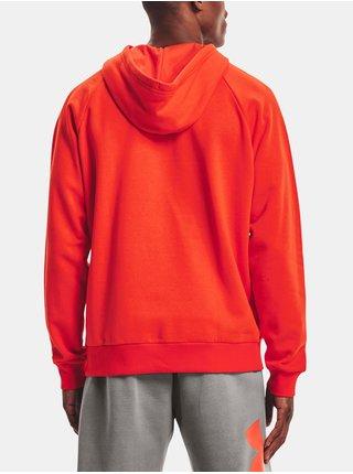 Mikina Under Armour UA Rival Fleece Big Logo HD- oranžová