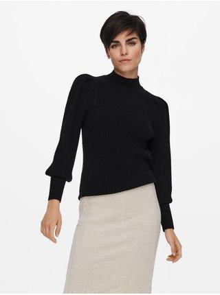 Černý žebrovaný svetr ONLY Katia