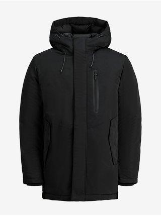 Černá zimní bunda s kapucí Jack & Jones Caspar
