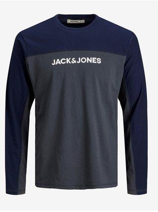 Modro-šedé tričko Jack & Jones Smith