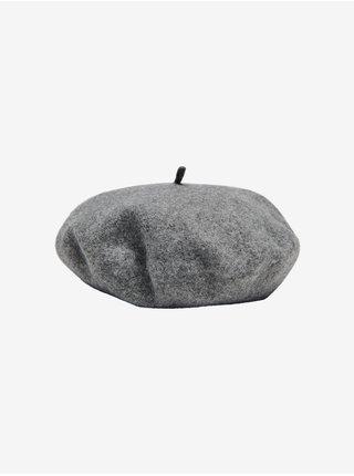 Šedý vlnený baret ONLY Wool