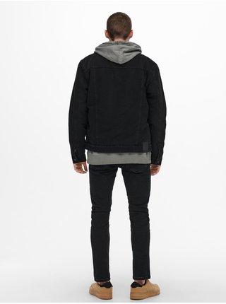 Černá lehká džínová bunda ONLY & SONS Louis