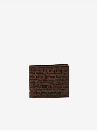 Tmavě hnědá pánská kožená vzorovaná peněženka Bruno Banani